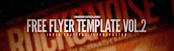 Free Flyer Template Vol2 Indieground Graphic Design Blog – Band Flyer Template