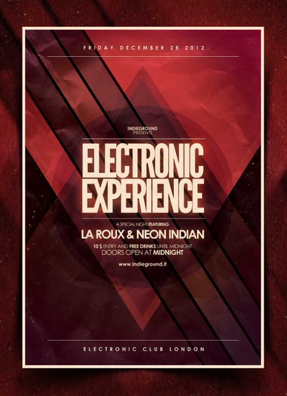 New Flyer Electro Vol 5 Indieground Graphic Design Blog Flyer